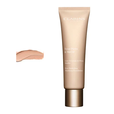 Clarins Teint Pores & Matite Pore Perfecting Matifying Foundation Podkład matujący 30ml 02 Nude Beige