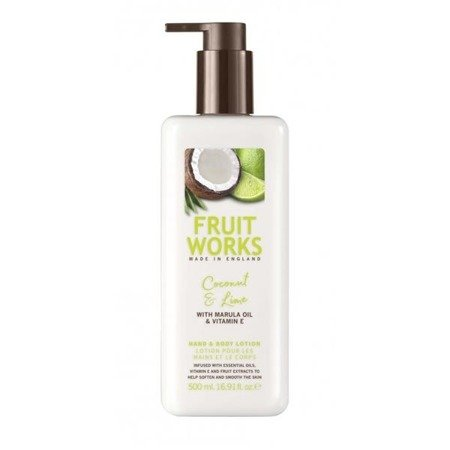 Grace Cole Fruit Works Hand & Body Lotion balsam do rąk i ciała Coconut & Lime 500ml
